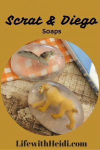 Scrat and Diego Ice Age Soaps