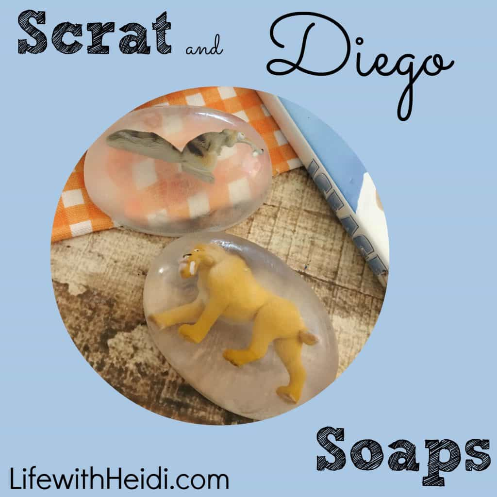 Scrat and Diego Soaps