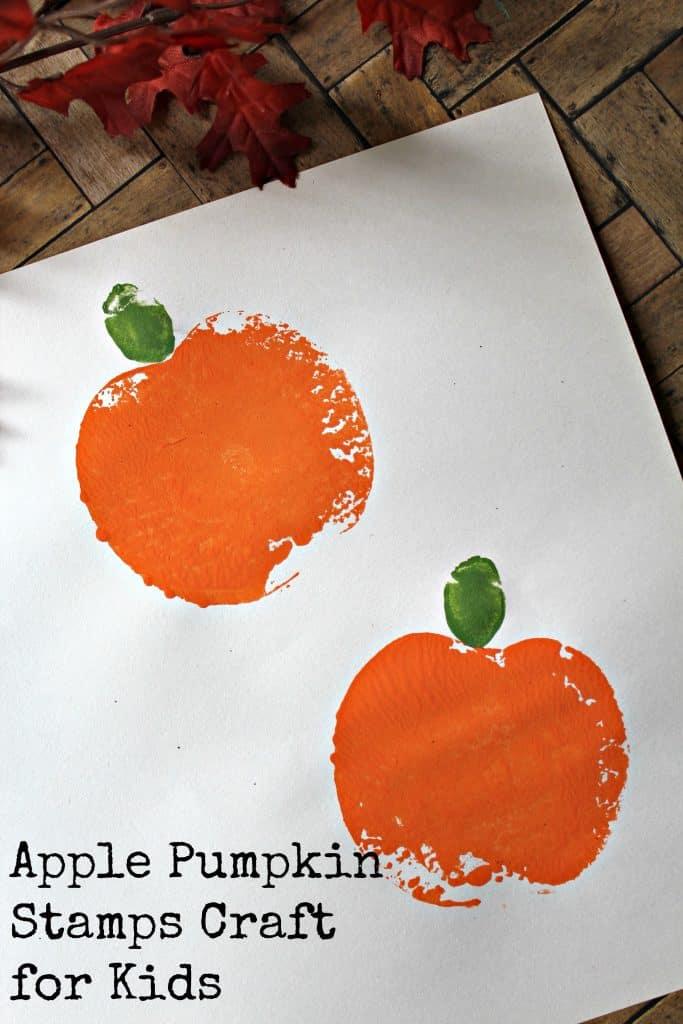 Apple Pumpkin Stamps Craft for Kids