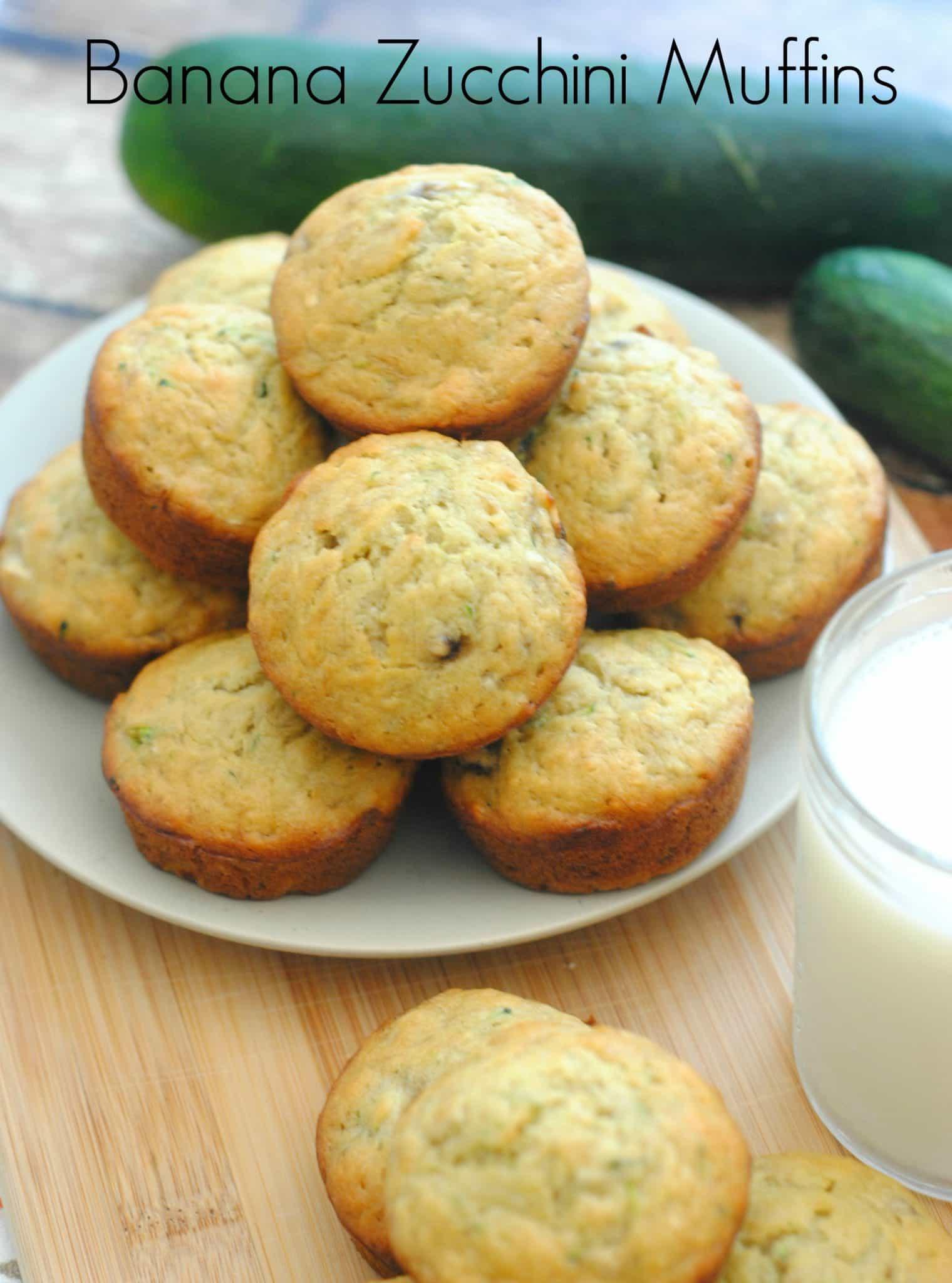 Banana Zucchini Muffins   Life with Heidi
