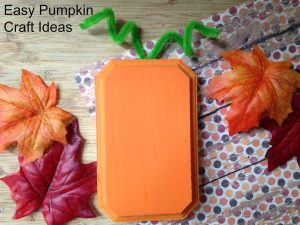 Easy Pumpkin Craft