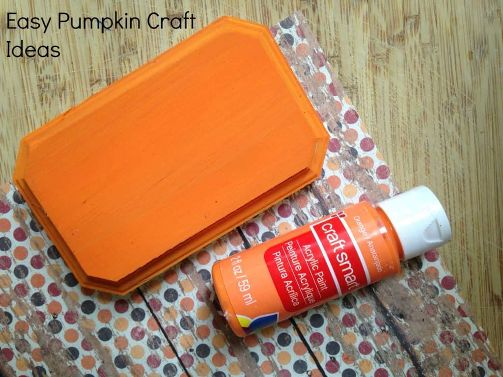 Easy Pumpkin Craft Ideas