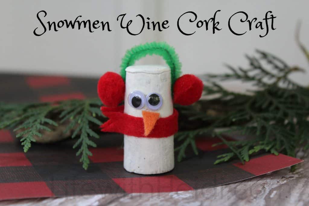 Snowmen Wine Cork Craft