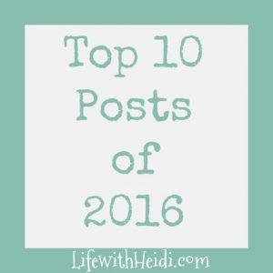 Top 10 Posts 2016