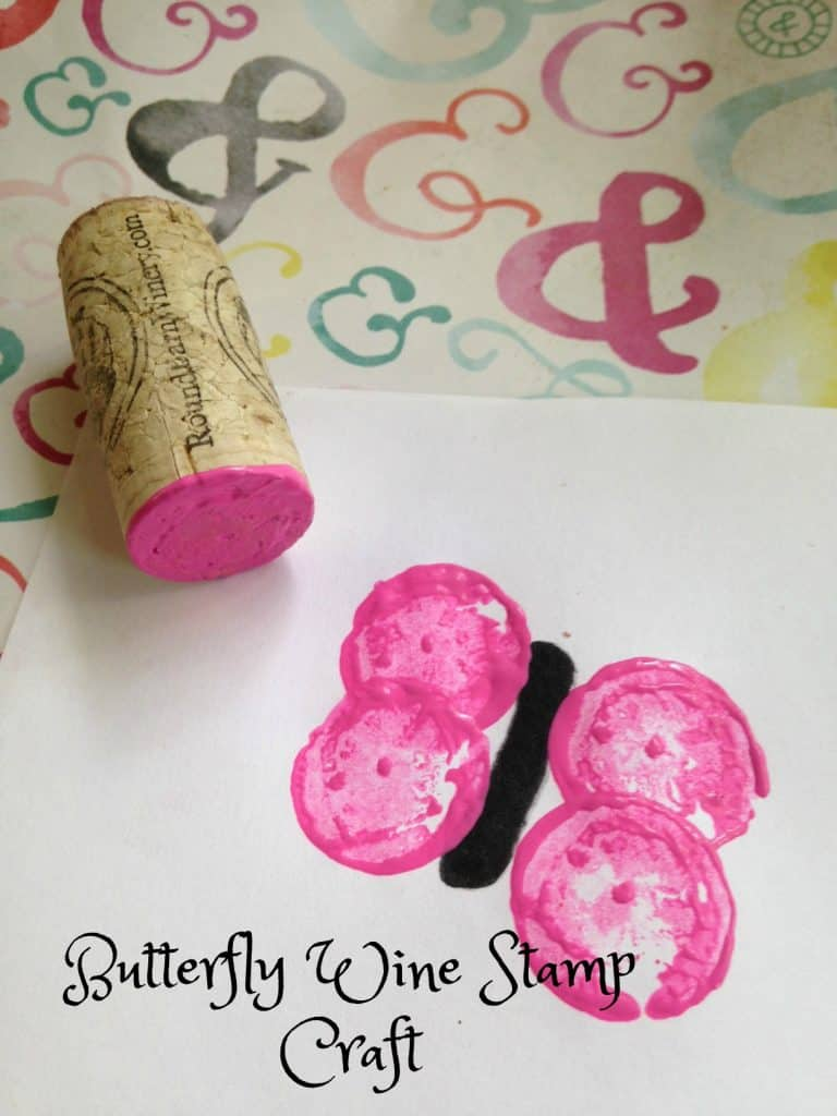 Butterfly Wine Stamp Craft