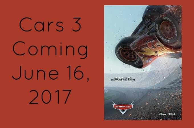 Cars 3 Coming June 16, 2017