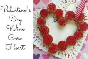 Valentine's Day Wine Cork Heart