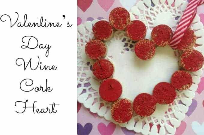 Valentine's Day Wine Cork Heart