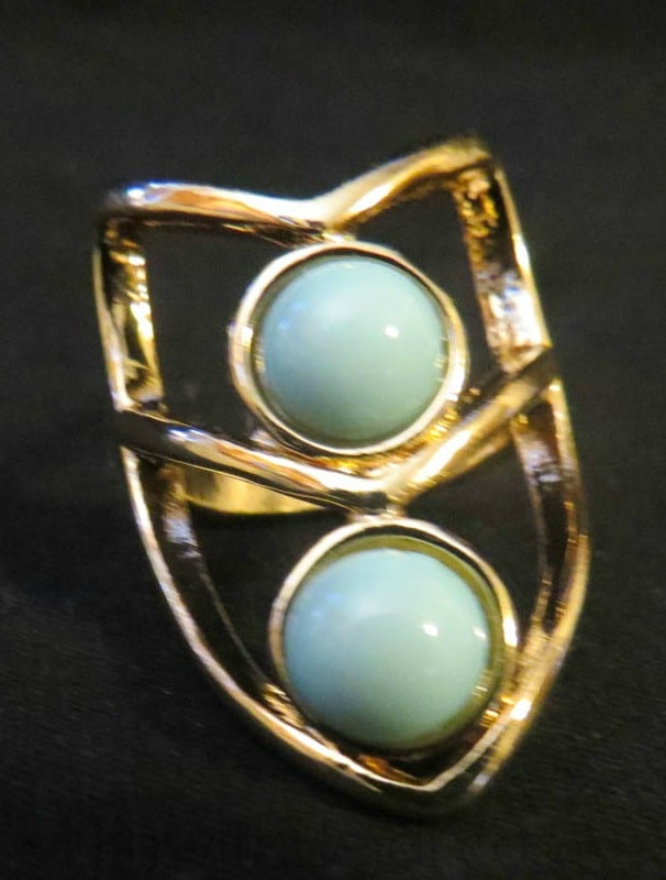 Amazonian Scarab Turquoise Knuckle Ring