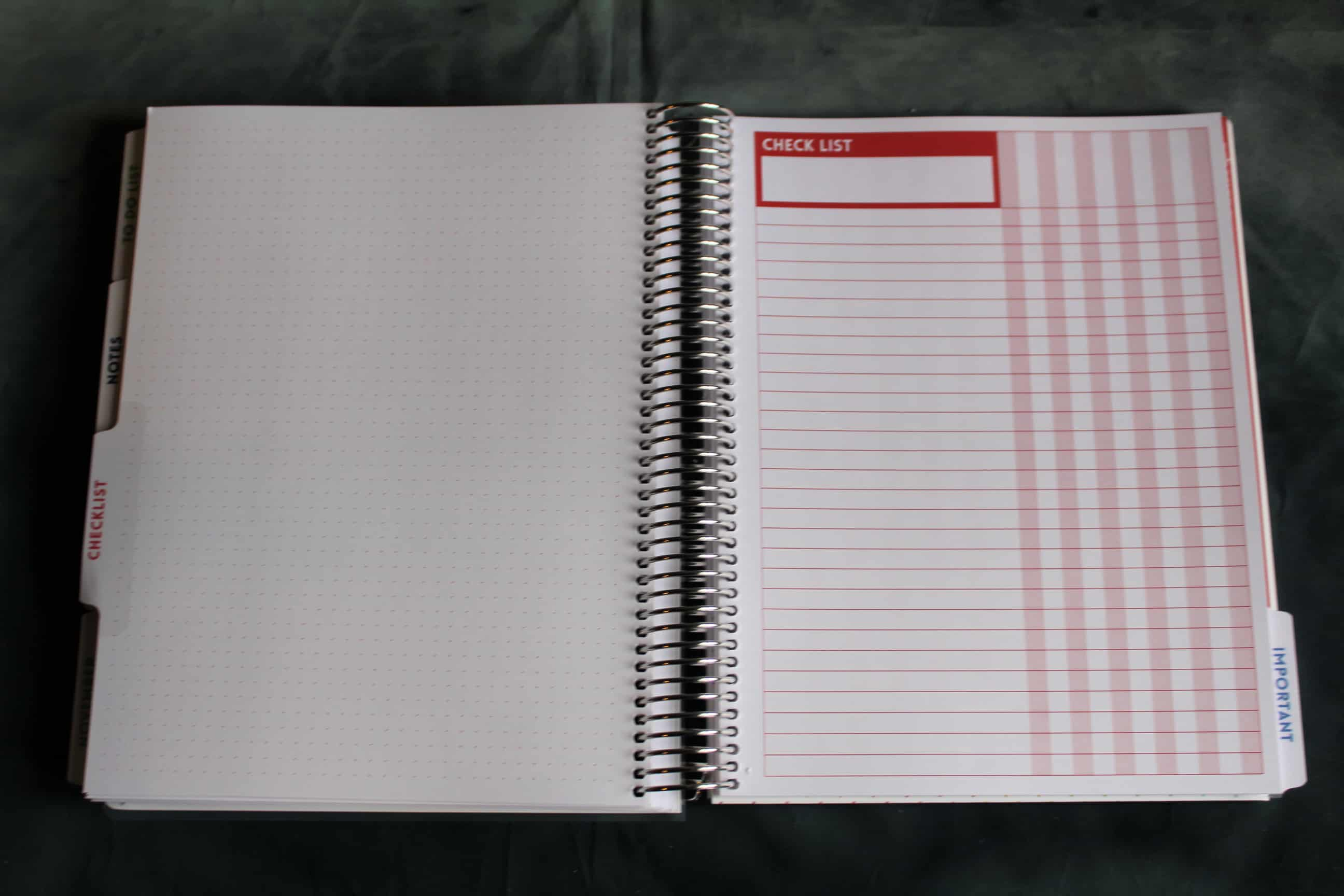Planner with Checklist