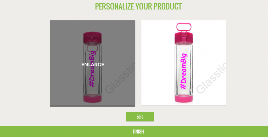 Glasstic Personalized Water Bottle