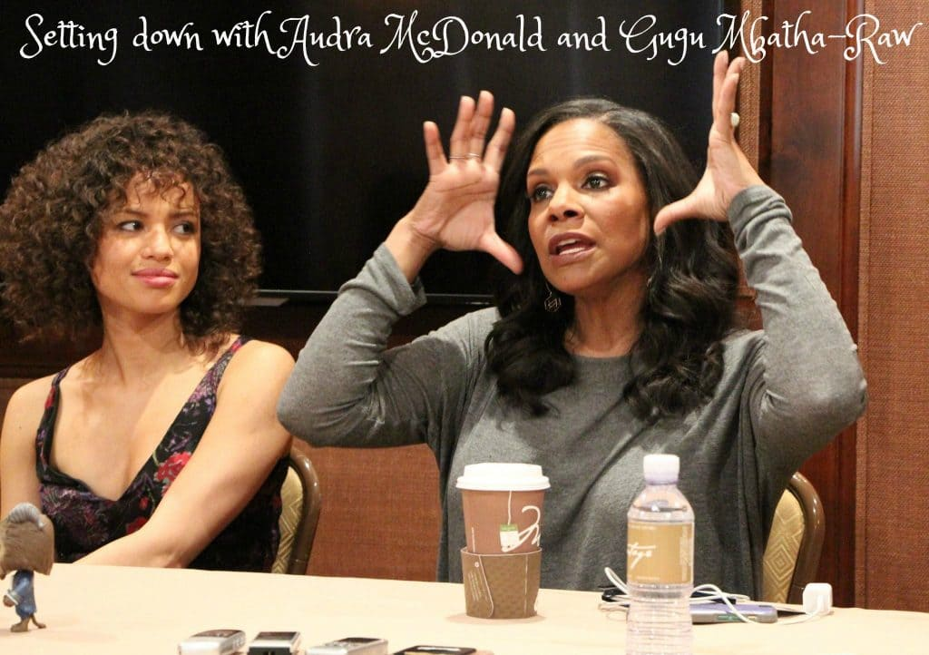 Setting down with Audra McDonald and Gugu Mbatha-Raw