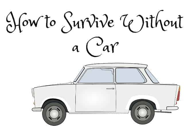 how to survive without a car