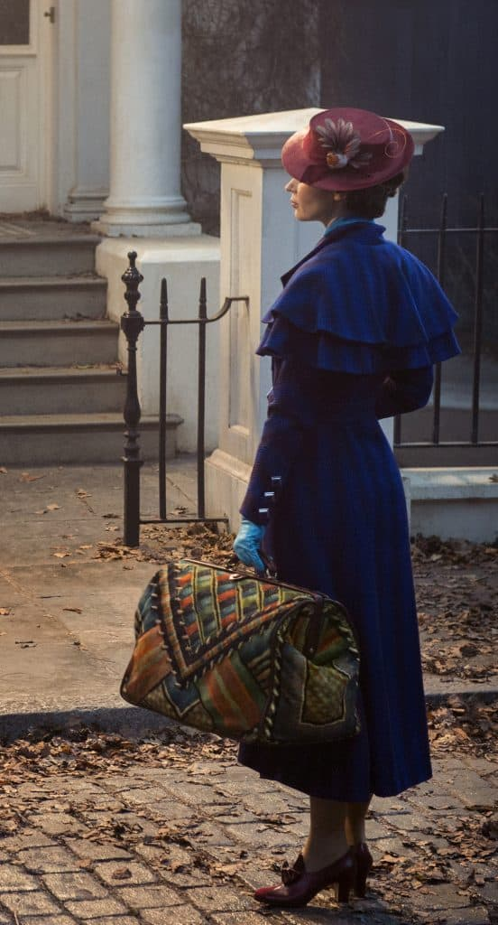 Emily Blunt as Mary Poppins in Mary Poppins Returns