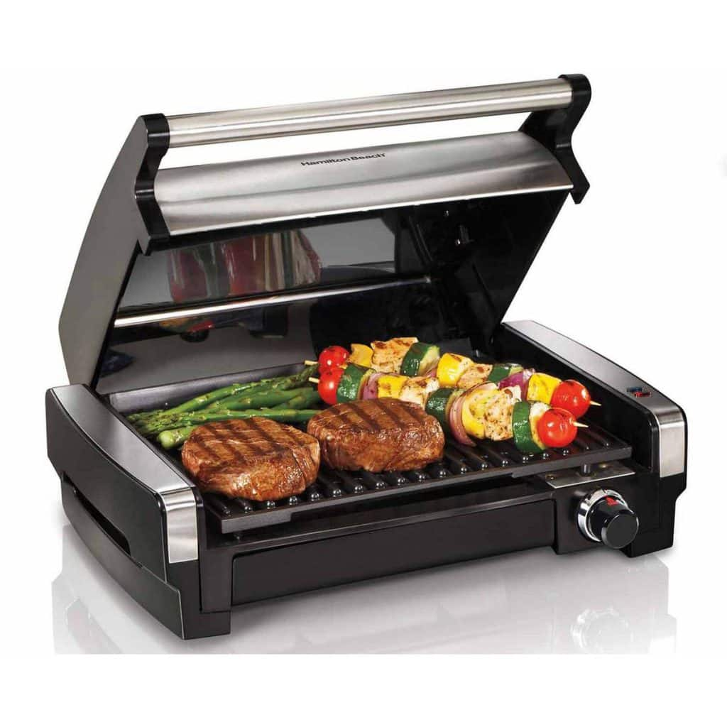 Hamilton Beach allows you to Grill inside with their Searing Grill, #Grillit