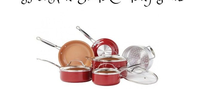 The Best Non-Stick Cooking Pans are the Red Copper Pans from Bulbhead.com