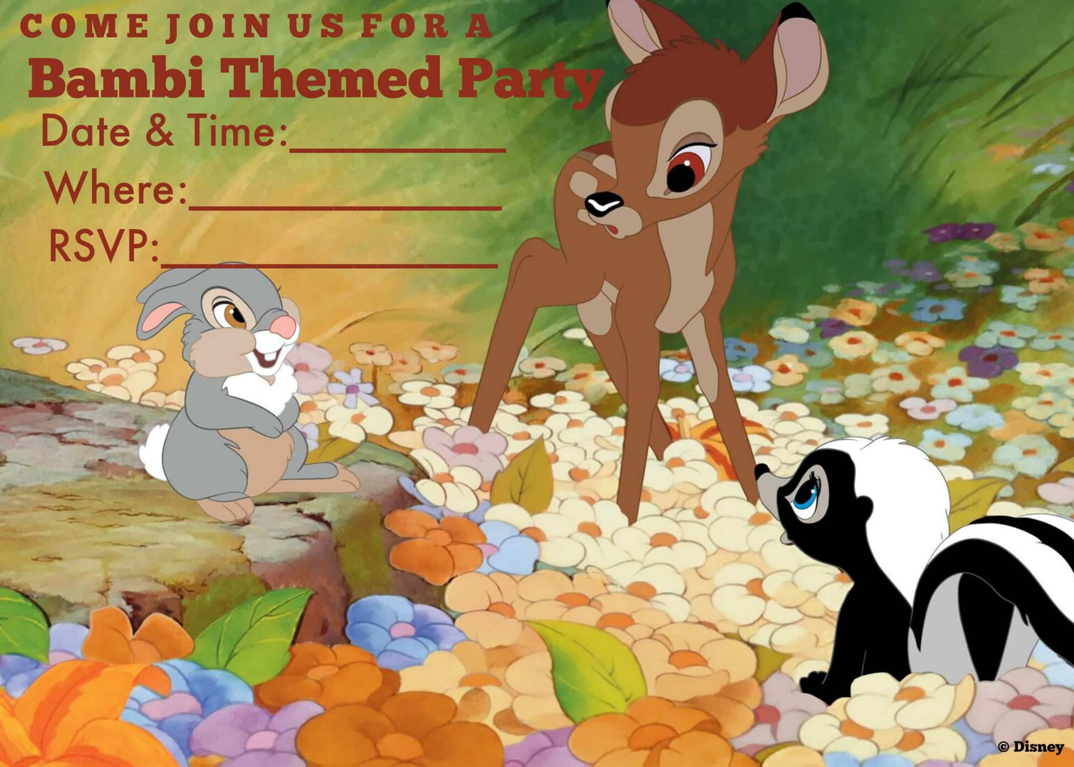 Bambi Party Ideas