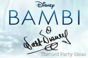Bambi Themed Party Ideas