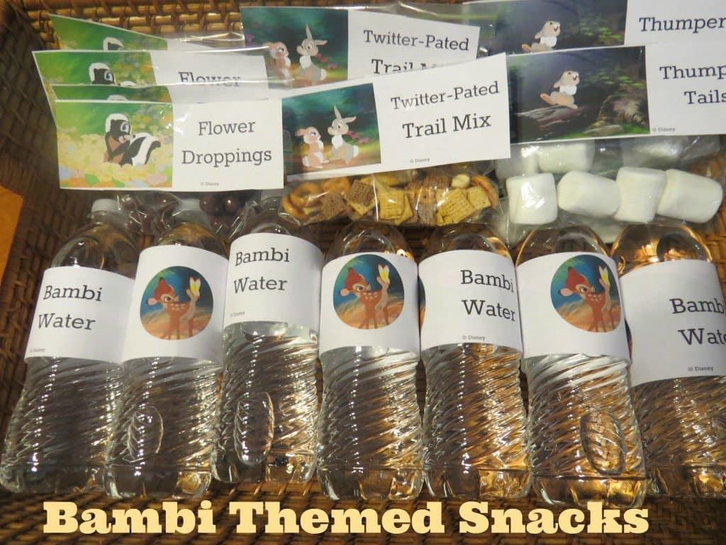 Bambi Themed Snacks