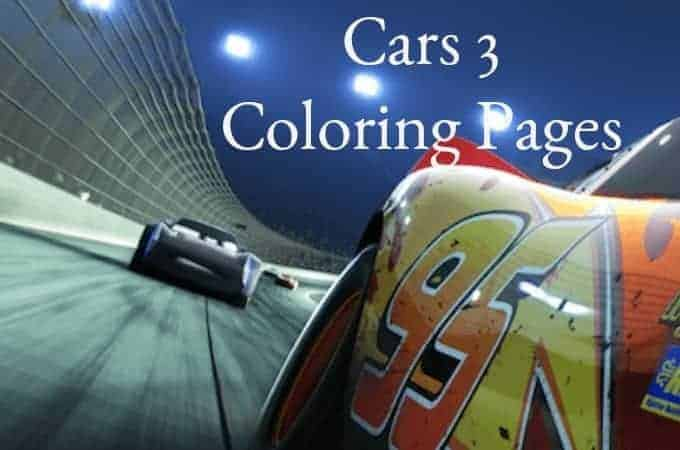 Cars 3 Coloring Sheets