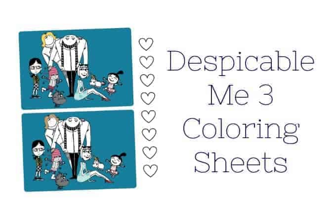 Despicable Me 3 Coloring Sheets