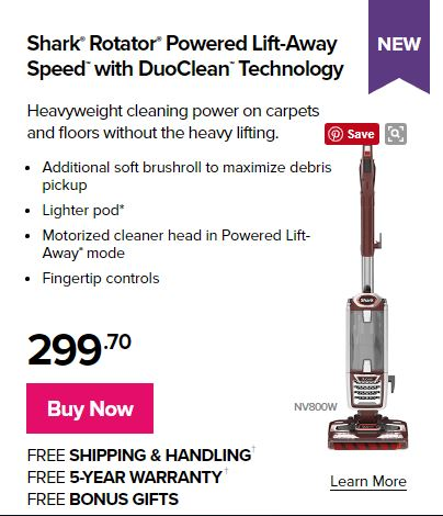 Best Home Vacuum is the Shark Powered Lift-Away Duo Clean