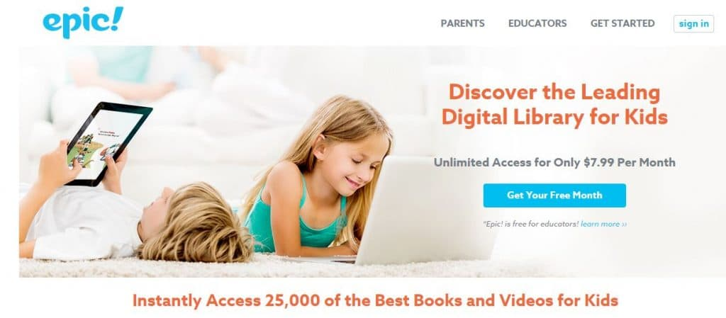 Epic Books is a great way to help your child read more