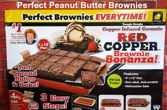 Perfect Peanut Butter Brownies