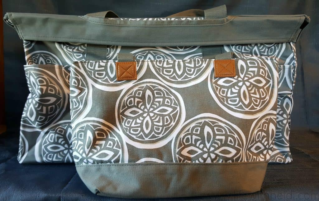 Deluxe Utility Tote in Woodblock Whimsy  Demi Dag bag also in Woodblock Whimsy