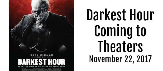 Darkest Hour coming to Theaters on November 22