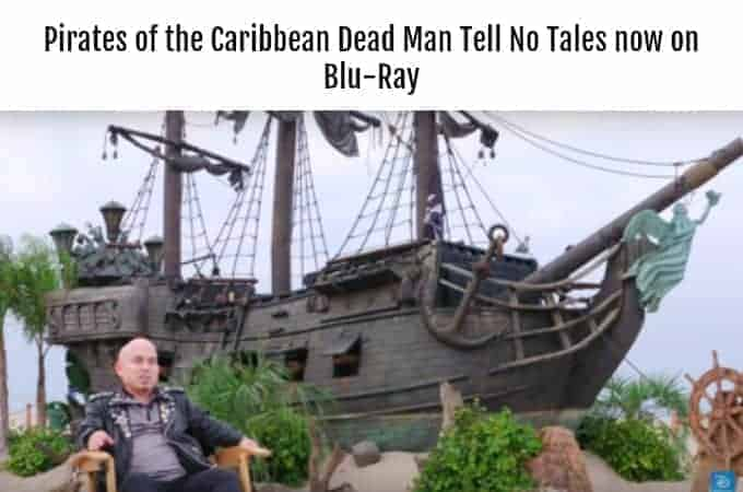 Pirates of the Caribbean Dead Man Tell No Tales now on Blu-Ray