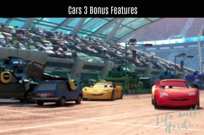 Cars 3 Bonus Features