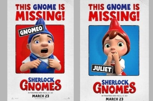 Sherlock Gnomes is in theaters March 23, 2018
