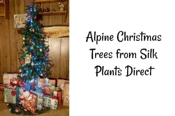 Alpine Christmas Trees from Silk Plants Direct