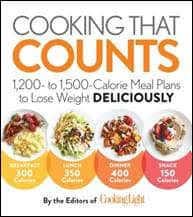COOKING THAT COUNTS: 1,200 to 1,500-Calorie Meal Plans to Lose Weight Deliciously by the Editors of Cooking Light, Oxmoor House, January 2017 978-0-8487-4950-7, $21.95