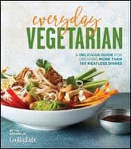 EVERYDAY VEGETARIAN: A Delicious Guide for Creating More Than 100 Meatless Dishes by the Editors of Cooking Light, Oxmoor House, May 2017 978-0-8487-4951-4, $21.95