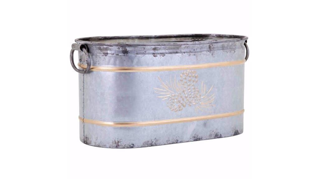 Trisha Yearwood Home Collection Galvanized Metal Tub