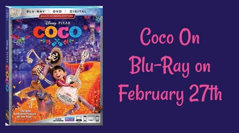 Coco On Blu-Ray on February 27th