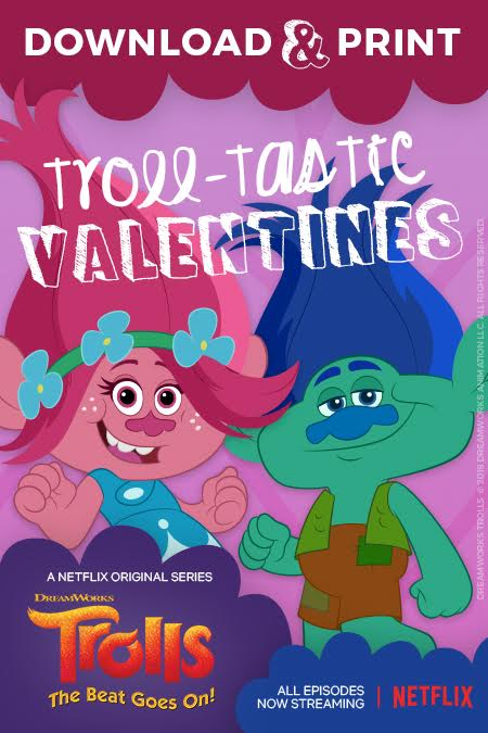 Troll printable Valentines