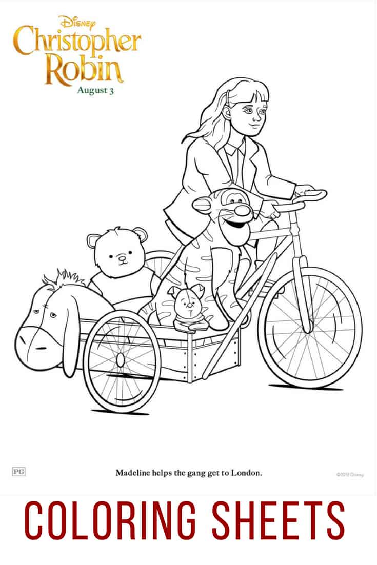 Christopher Robin Coloring Sheets to download