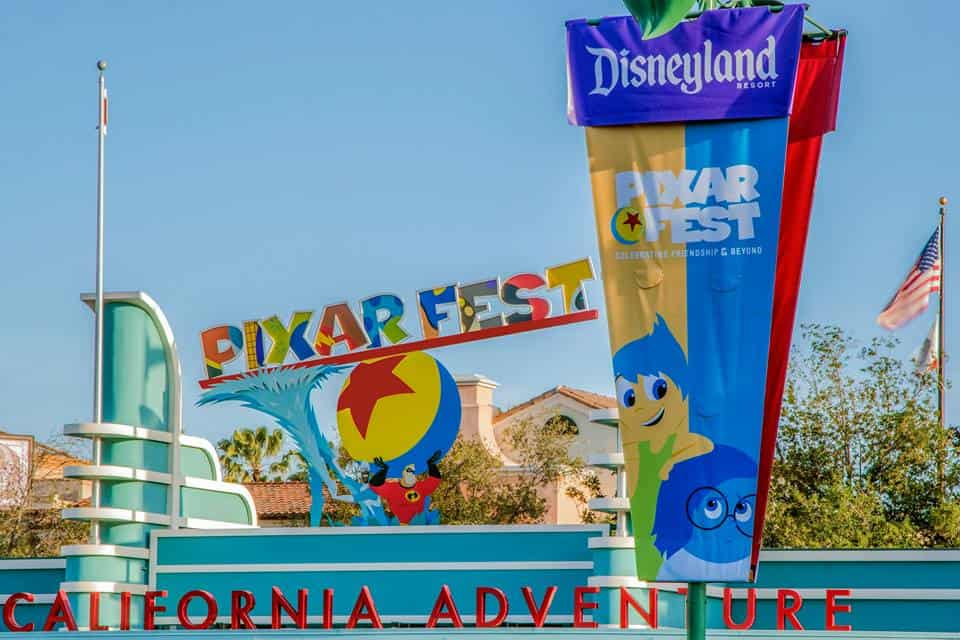 Pixar Fest at California Adventures in Disneland