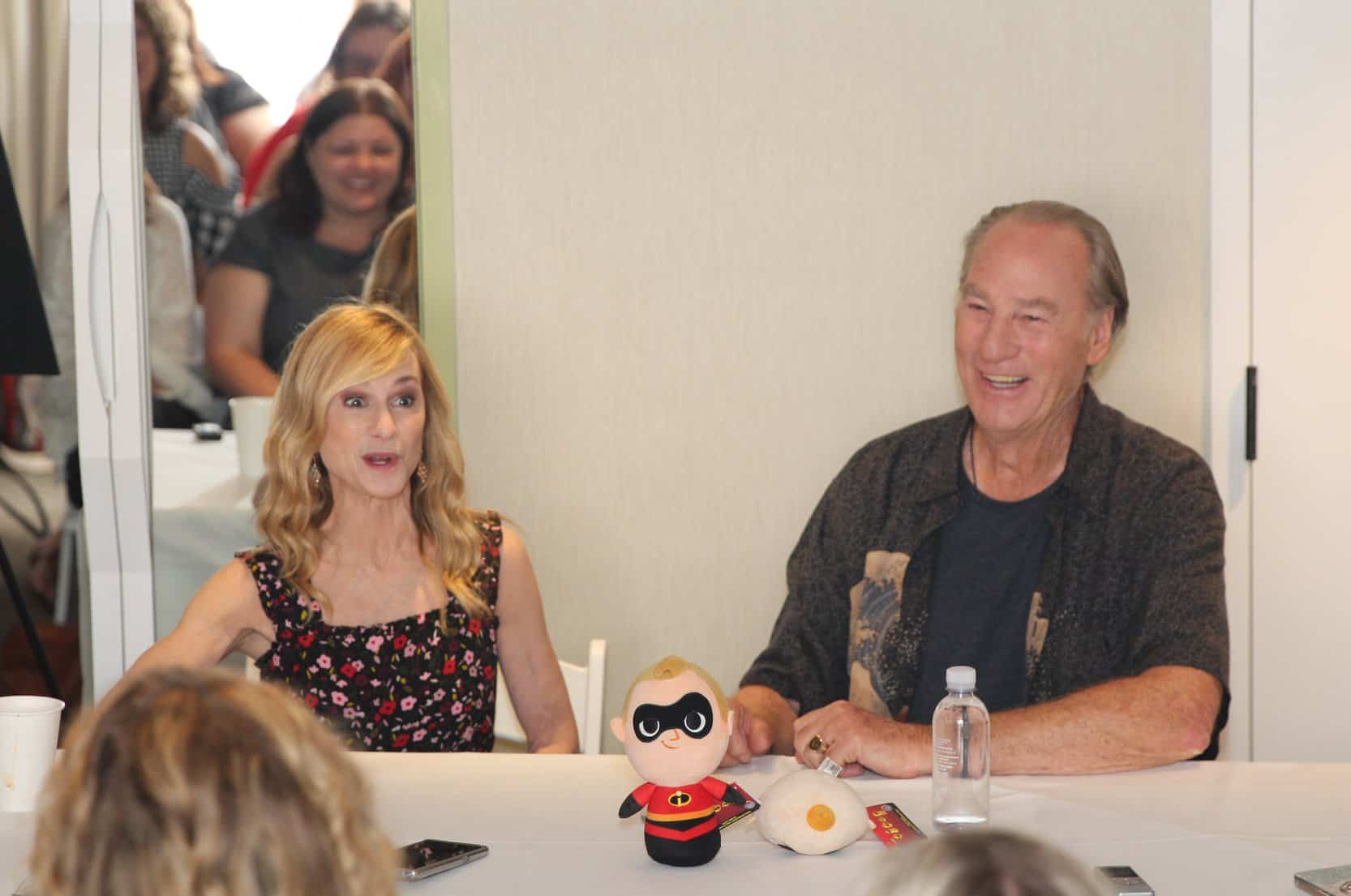 Interviewing Mr. and Mrs. Incredible AKA Holly Hunter and James T. Nelson