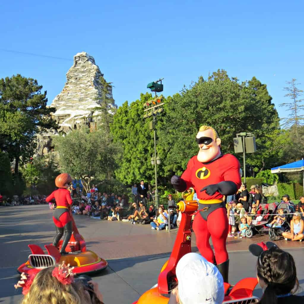 Watching the pixar parade is a must