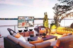 Sunbrite for outside television watching