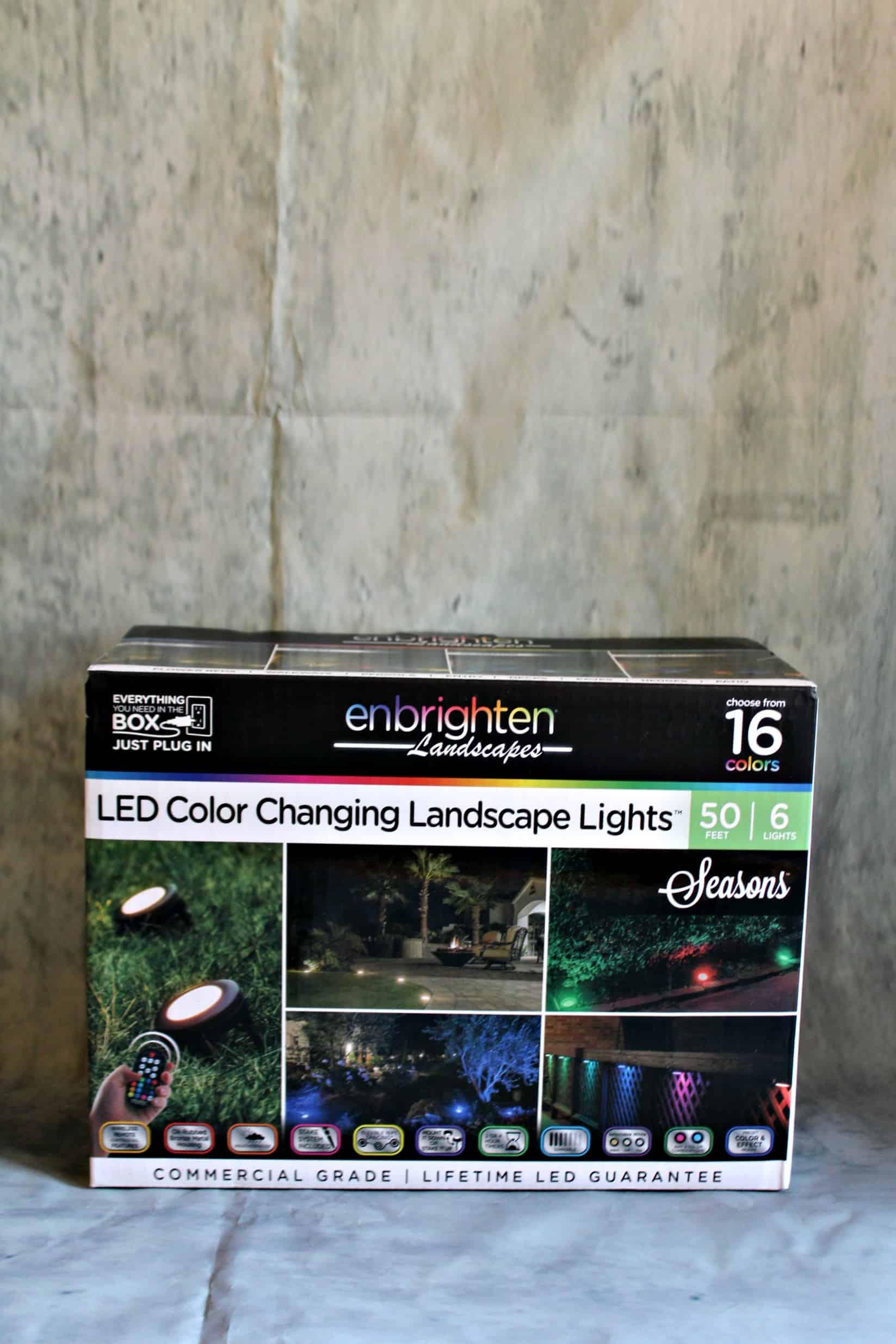 The Enbrighten LED Color Changing Landscape Lights