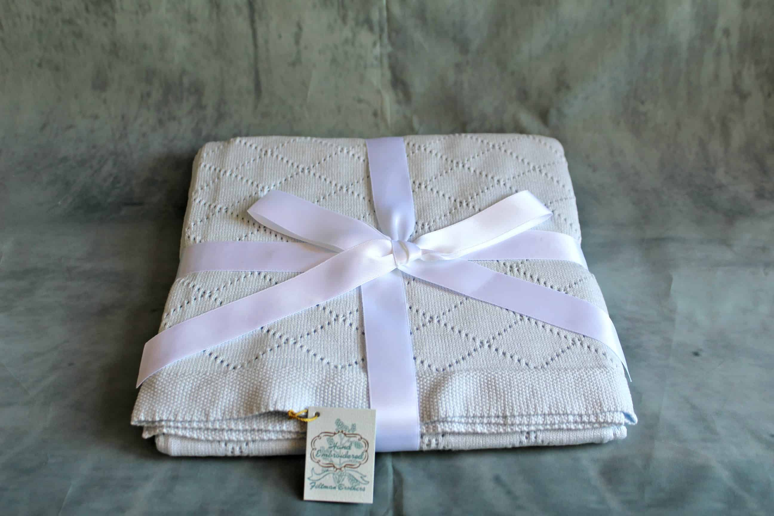 Feltman Brothers Blankets are perfect baby shower gifts.