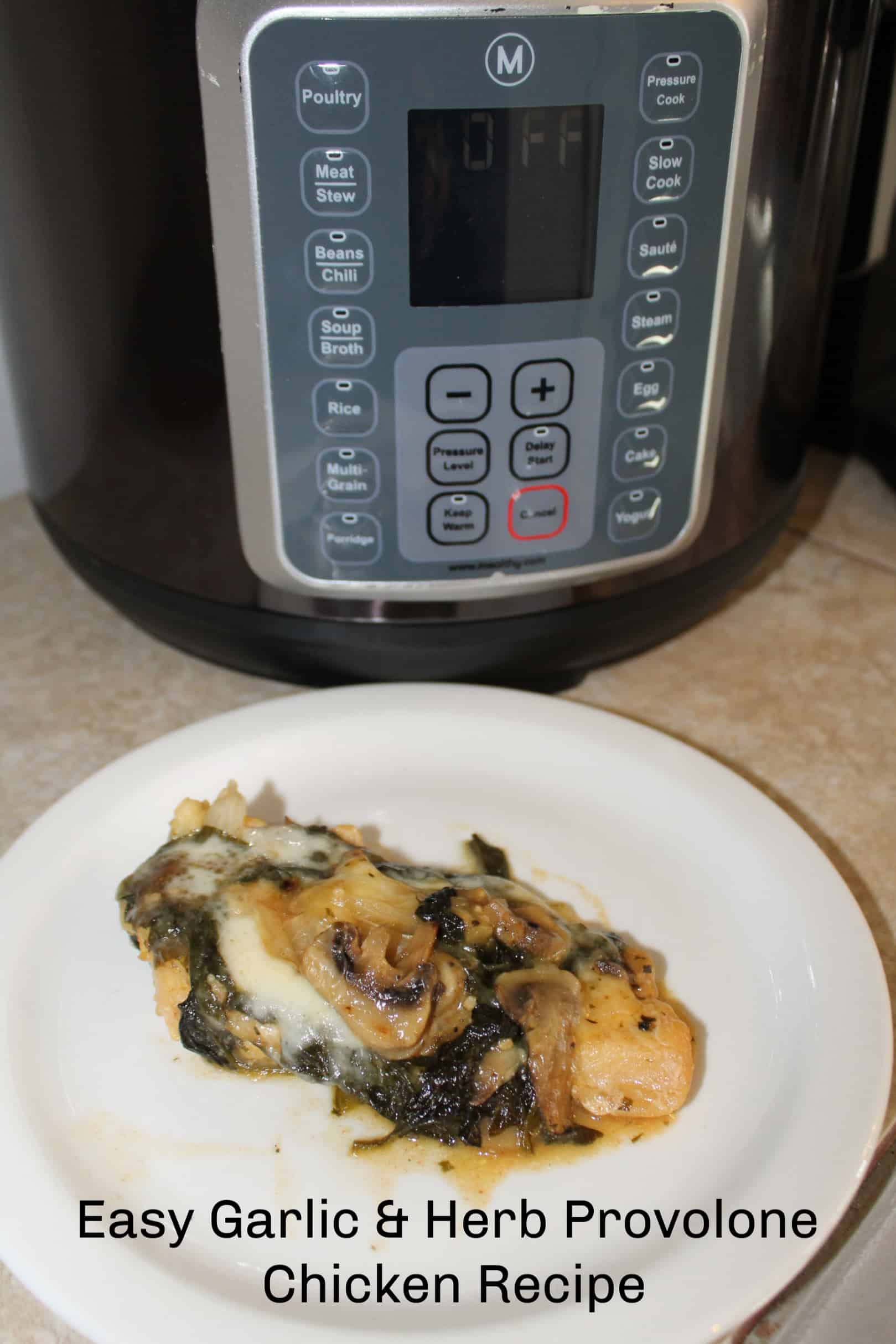 Easy Garlic & Herb Provolone Chicken Recipe