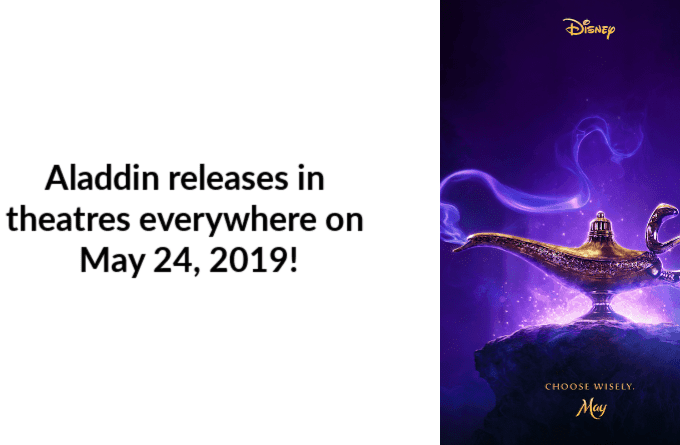 Aladdin releases in theatres everywhere on May 24, 2019!