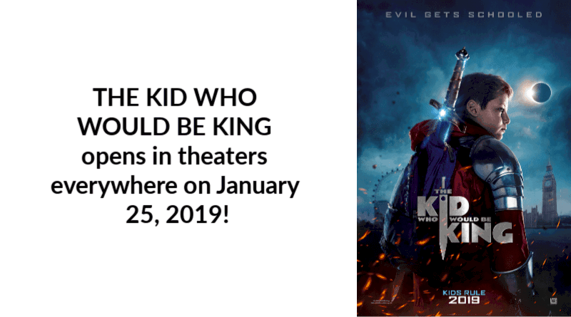 THE KID WHO WOULD BE KING opens in theaters everywhere on January 25, 2019!