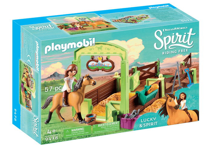 Lucky with Spirit Horse Stall set from Playmobile